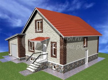 Одноэтажного дома с мансардой и