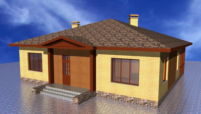 Проект маленького одноэтажного дома с
