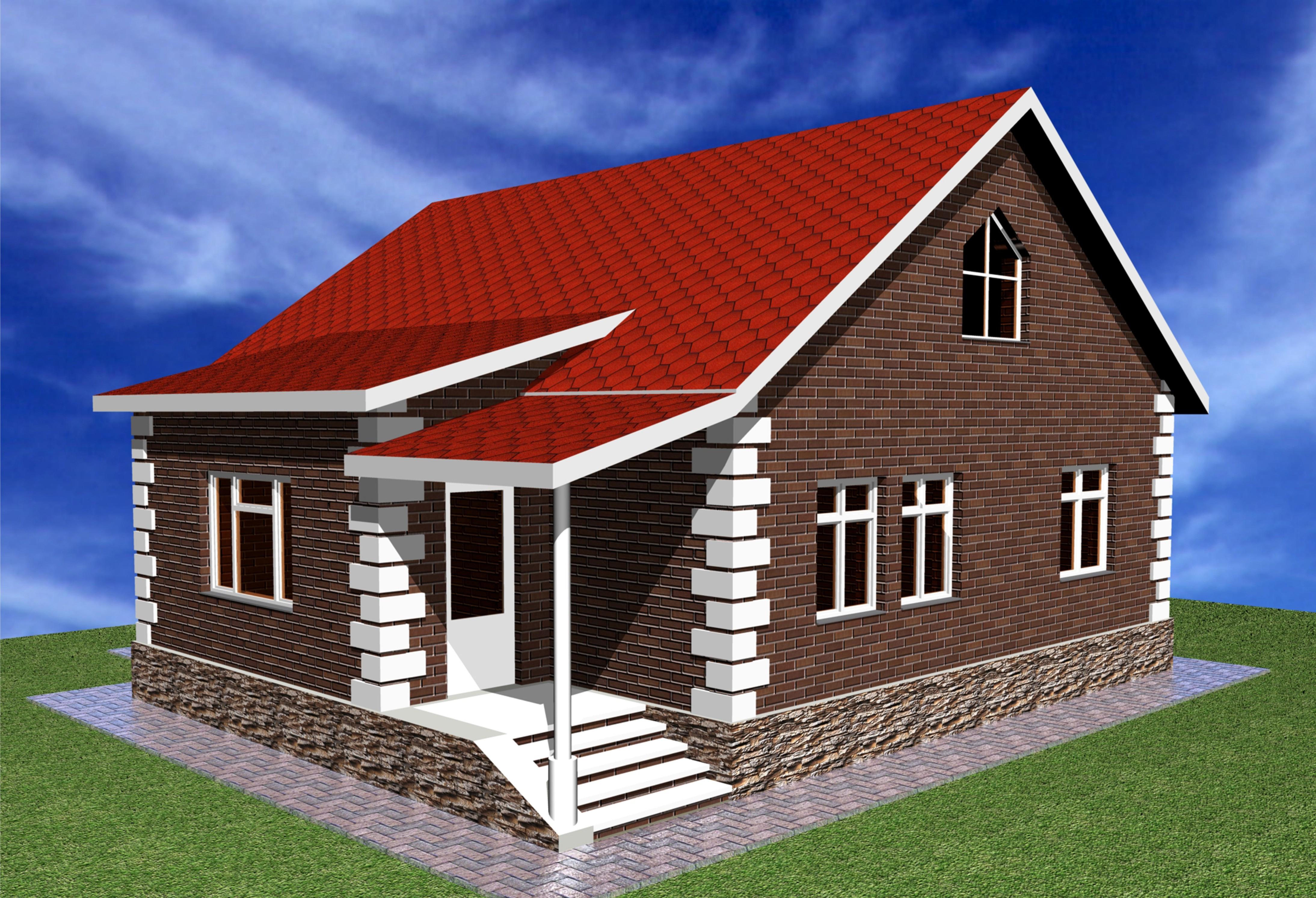 Проект небольшого одноэтажного сельского дома